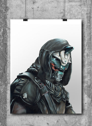 Cayde-6/Destiny | Limited Edition | Hand Drawing by Wil Shrike