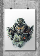 Load image into Gallery viewer, Doom/Limited Edition/Hand Drawing by Wil Shrike