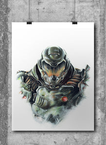 Doom | Limited Edition | Hand Drawing by Wil Shrike
