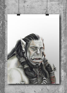 Durotan | WarCraft | Limited Edition | Hand Drawing by Wil Shrike