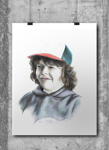 Dustin Henderson/Limited Edition/Hand Drawing by Wil Shrike