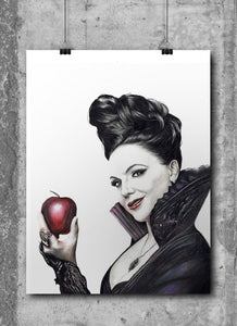 Evil Queen/Once Upon a Time/Limited Edition/Hand Drawing by Wil Shrike