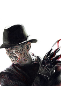 Freddy Krueger/A Nightmare on Elm Street | Limited Edition | Hand Drawing by Wil Shrike
