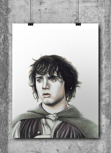 Frodo | Limited Edition | Hand Drawing by Wil Shrike