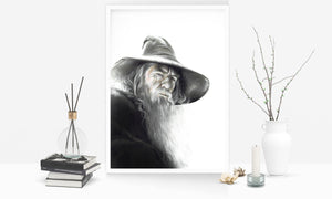 Gandalf the Grey | Limited Edition | Hand Drawing by Wil Shrike