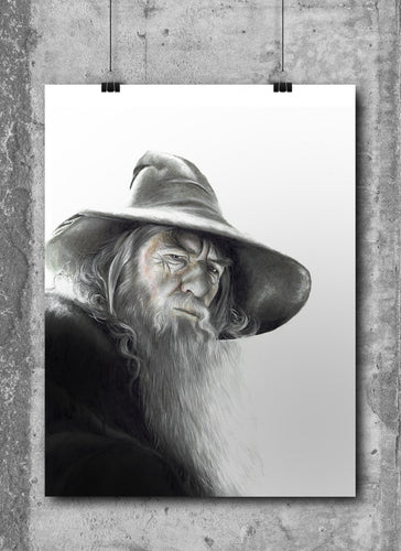 Gandalf the Grey/Limited Edition/Hand Drawing by Wil Shrike