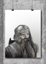 Load image into Gallery viewer, Gimli | Limited Edition | Hand Drawing by Wil Shrike