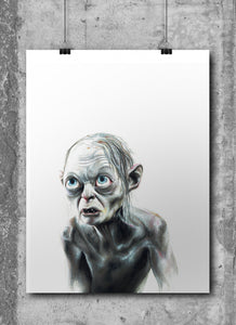 Gollum/Smeagal | Limited Edition | Hand Drawing by Wil Shrike