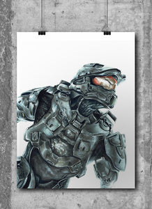 MasterChief/Halo | Limited Edition | Hand Drawing by Wil Shrike