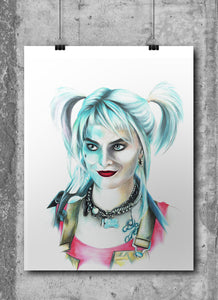Harley Quinn | Margot Robbie | Limited Edition | Hand Drawing by Wil Shrike