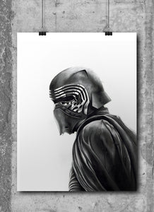 Kylo Ren/Limited Edition/Hand Drawing by Wil Shrike
