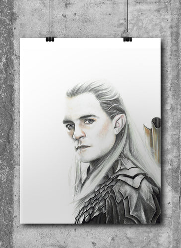 Legolas | Limited Edition | Hand Drawing by Wil Shrike