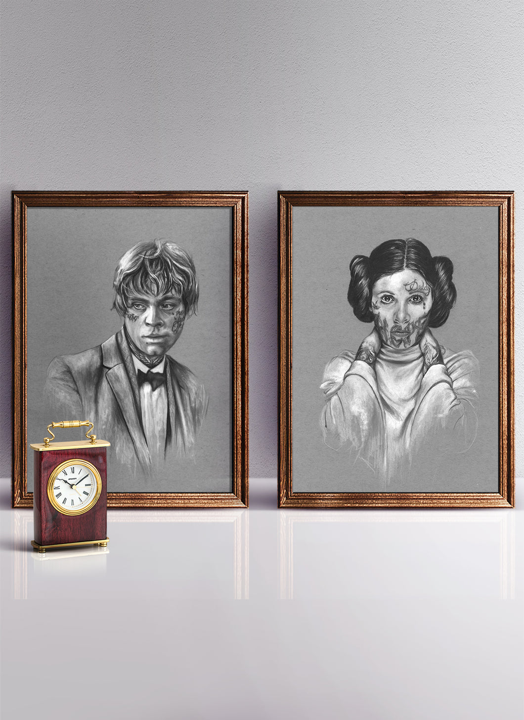 Luke & Leia/Print Pack/Limited Edition/Hand Drawing by Wil Shrike