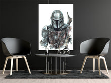Load image into Gallery viewer, The Mandolorian/Limited Edition/Hand Drawing by Wil Shrike