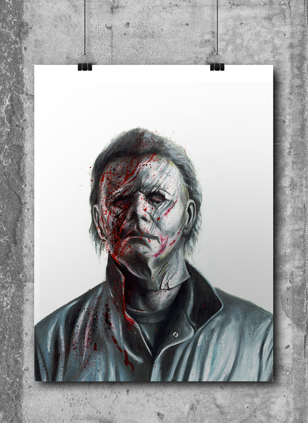 Michael Myers/Halloween/Limited Edition/Hand Drawing by Wil Shrike