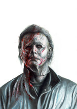 Load image into Gallery viewer, Michael Myers/Halloween/Limited Edition/Hand Drawing by Wil Shrike