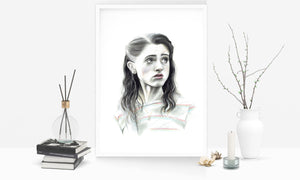 Nancy Wheeler/Limited Edition/Hand Drawing by Wil Shrike