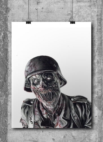 Nazi Zombie/Call of Duty | Limited Edition | Hand Drawing by Wil Shrike