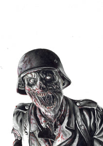 Nazi Zombie/Call of Duty/Limited Edition/Hand Drawing by Wil Shrike