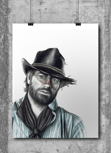 Arthur Morgan/Red Dead Redemption 2 | Limited Edition | Hand Drawing by Wil Shrike