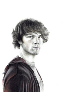 Sam Winchester/Supernatural/Limited Edition/Hand Drawing by Wil Shrike