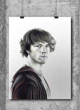 Load image into Gallery viewer, Sam Winchester/Supernatural/Limited Edition/Hand Drawing by Wil Shrike