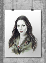 Load image into Gallery viewer, Scarlett Witch/Limited Edition/Hand Drawing by Wil Shrike