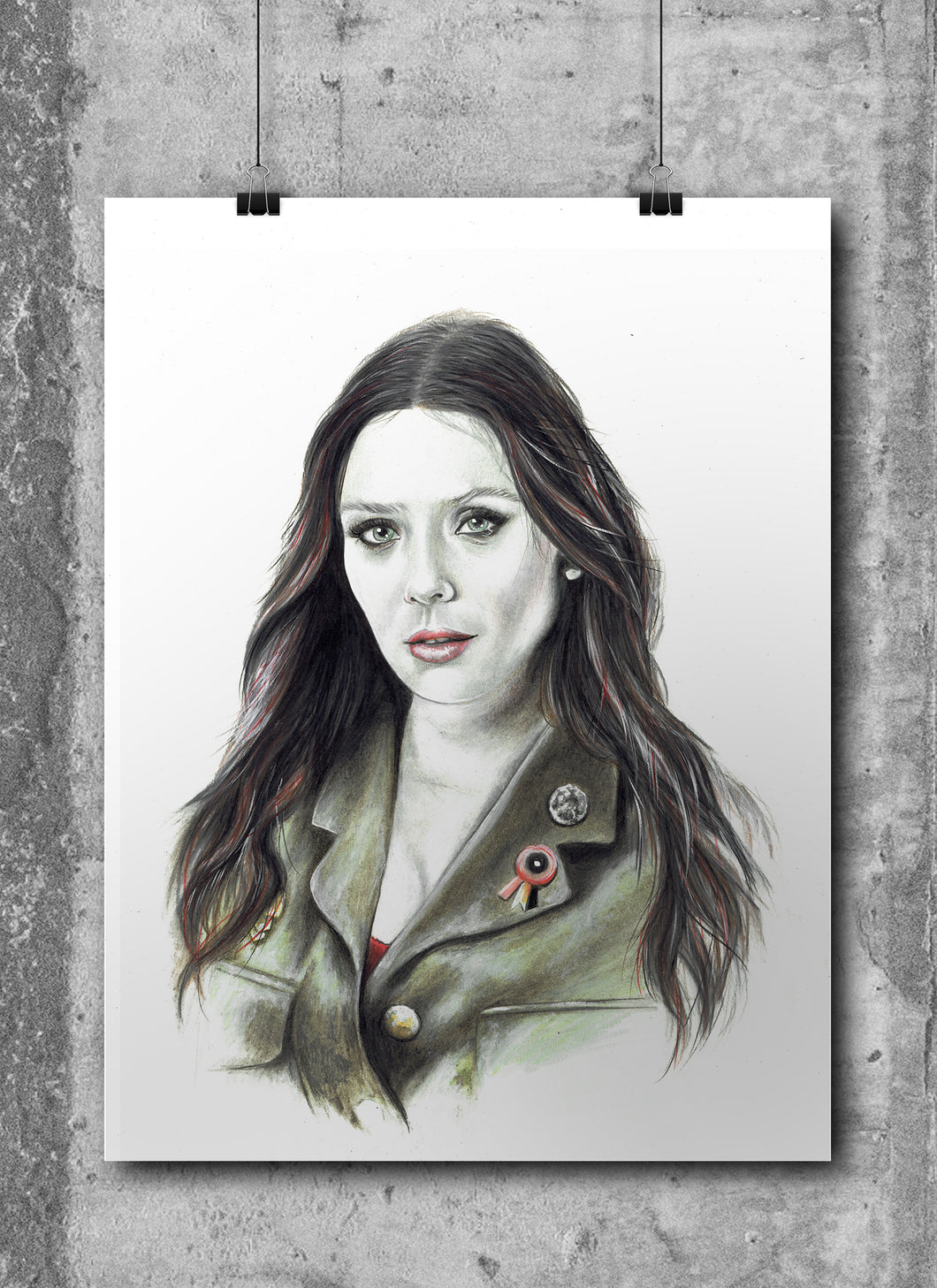 Scarlett Witch/Limited Edition/Hand Drawing by Wil Shrike