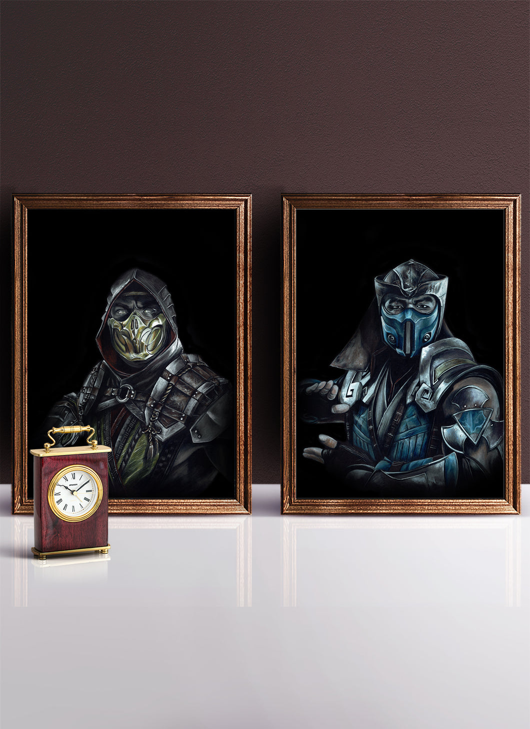 Scorpion vs SubZero/Print Set/Limited Edition/Hand Drawing by Wil Shrike
