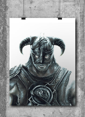 The Last Dragonborn/Skyrim/Limited Edition/Hand Drawing by Wil Shrike