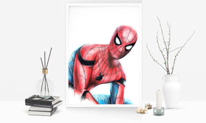 Spiderman/Limited Edition/Hand Drawing by Wil Shrike