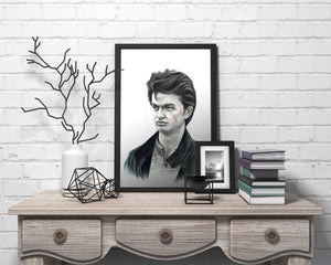 Steve Harrington/Limited Edition/Hand Drawing by Wil Shrike