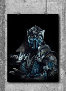 SubZero/Mortal Kombat/Limited Edition/Hand Drawing by Wil Shrike