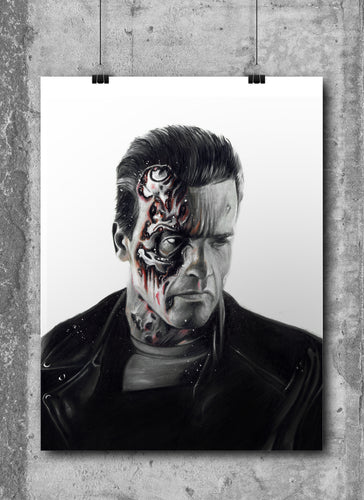 Terminator/Arnold Schwarzenegger/Limited Edition/Hand Drawing by Wil Shrike