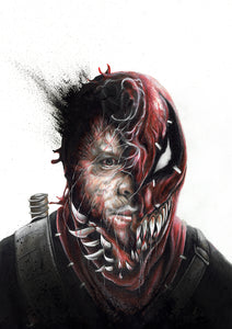 VenomPool/Limited Edition/Hand Drawing by Wil Shrike