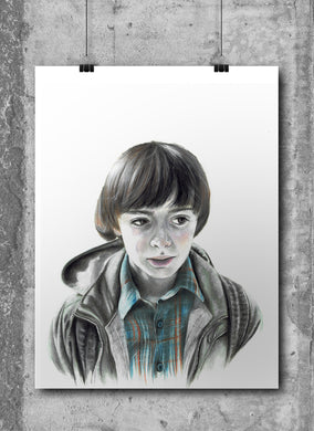 Will Byers/Limited Edition/Hand Drawing by Wil Shrike