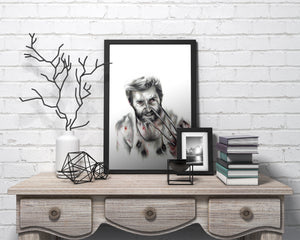 Logan/Hugh Jackman/Limited Edition/Hand Drawing by Wil Shrike