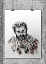Load image into Gallery viewer, Logan/Hugh Jackman/Limited Edition/Hand Drawing by Wil Shrike
