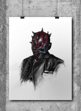 Darth Maul/Limited Edition/Hand Drawing by Wil Shrike