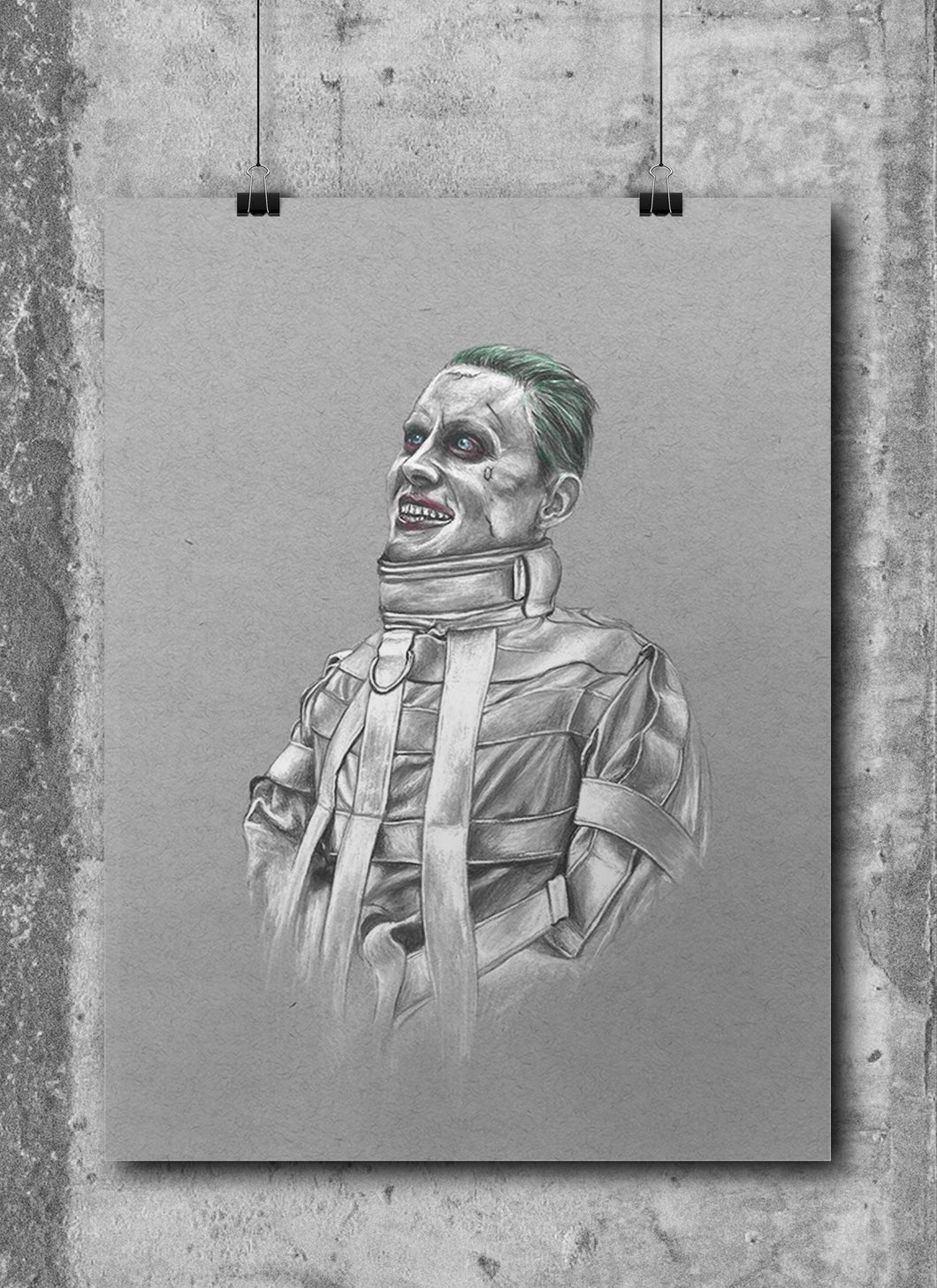 Joker/Jared Leto/Limited Edition/Hand Drawing by Wil Shrike