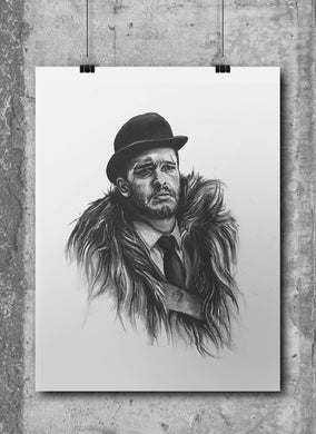 Jon Snow/Game of Thrones/Limited Edition/Hand Drawing by Wil Shrike