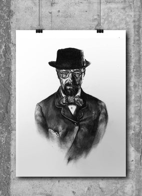 Heisenburg | Breaking Bad | Limited Edition | Hand Drawing by Wil Shrike