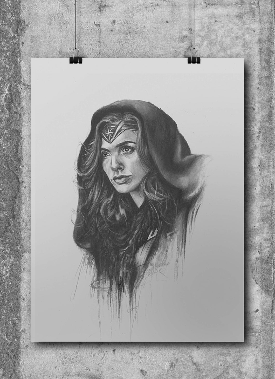 Wonder Woman/Limited Edition/Hand Drawing by Wil Shrike