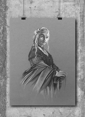 Daenerys Targaryen/Game Thrones/Limited Edition/Hand Drawing by Wil Shrike