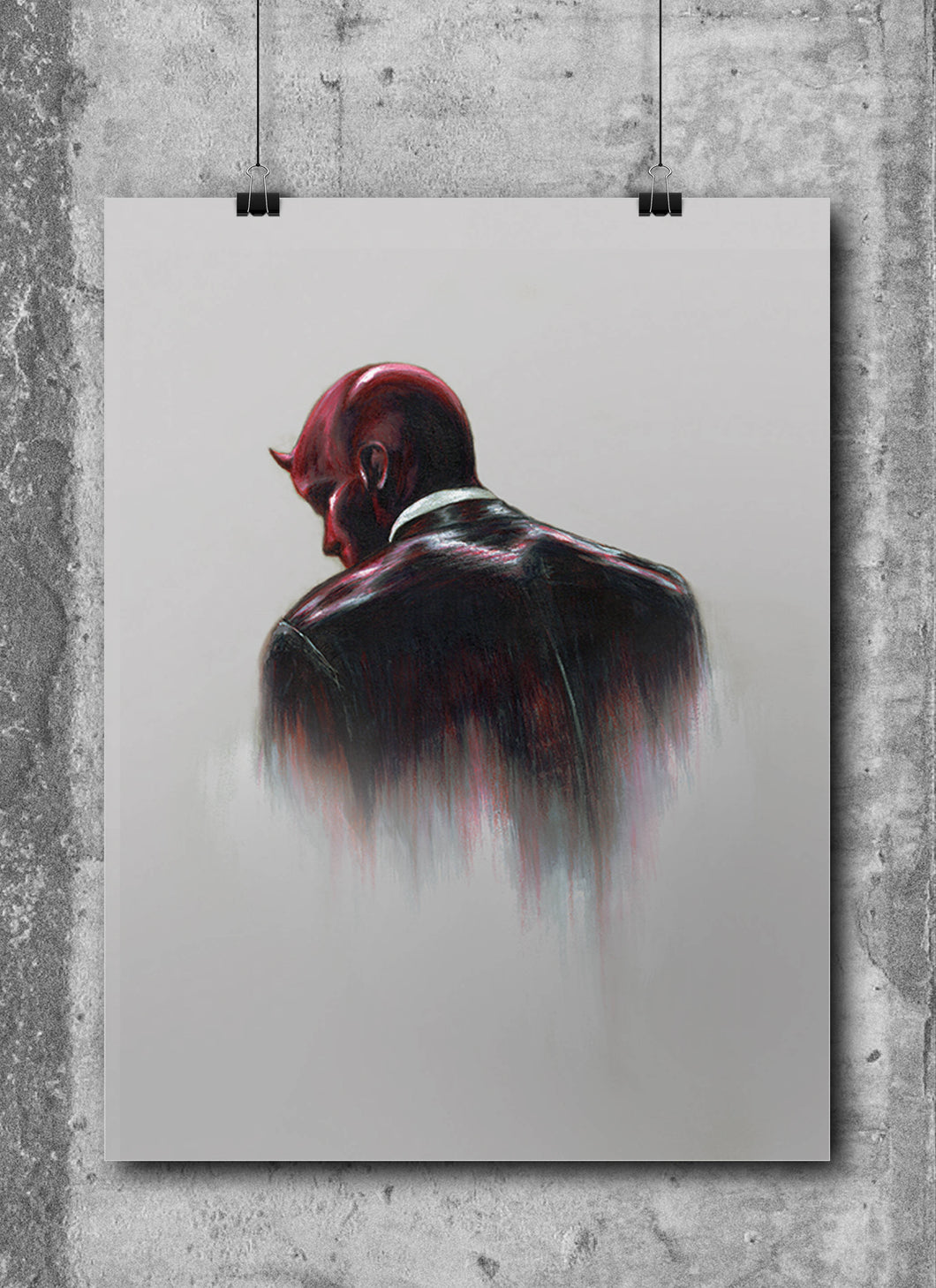Daredevil/Limited Edition/Hand Drawing by Wil Shrike