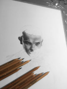 Eleven/Limited Edition/Hand Drawing by Wil Shrike