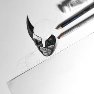 Wolverine/Limited Edition/Hand Drawing by Wil Shrike