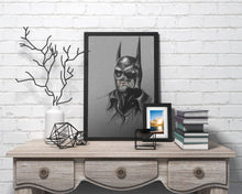 Load image into Gallery viewer, Batman/Michael Keaton/Limited Edition/Hand Drawing by Wil Shrike