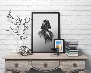 Darth Vader/Limited Edition/Hand Drawing by Wil Shrike