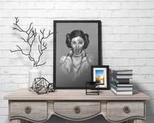 Load image into Gallery viewer, Princess Leia/Limited Edition/Hand Drawing by Wil Shrike